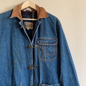 Vintage Flannel Insulated Denim Jacket